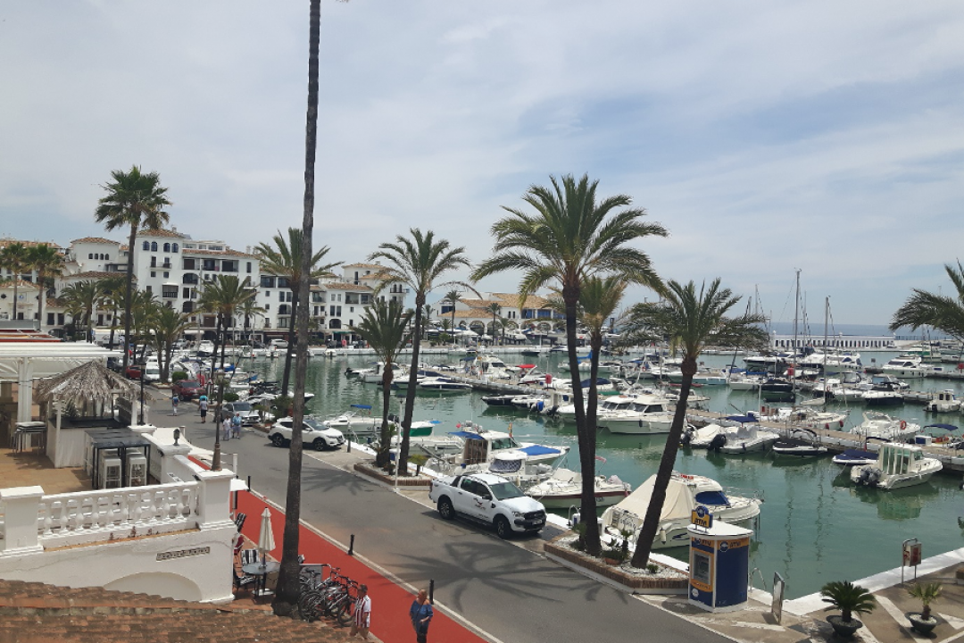 Multiple boats docked at the marina in Casares located in the Costa del Sol